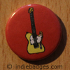 Retro Guitar 2 Button Badge