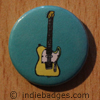 Retro Guitar 3 Button Badge