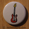 Retro Guitar 4 Button Badge