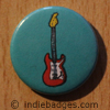 Retro Guitar 5 Button Badge
