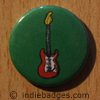 Retro Guitar 6 Button Badge