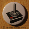 Retro Joystick Button Badge