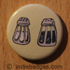 Retro Salt Pepper Shakers 1 Button Badge
