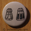 Retro Salt Pepper Shakers 2 Button Badge