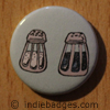Retro Salt Pepper Shakers 3 Button Badge