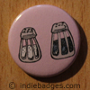 Retro Salt Pepper Shakers 4 Button Badge