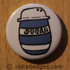 Retro Sugar Button Badge
