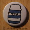 Retro Tea Button Badge