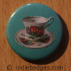 Retro Teacup 1 Button Badge