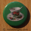 Retro Teacup 2 Button Badge