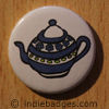 Retro Teapot 1 Button Badge