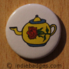 Retro Teapot 10 Button Badge