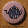 Retro Teapot 2 Button Badge