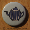 Retro Teapot 4 Button Badge