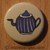 Retro Teapot 5 Button Badge