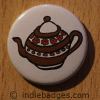 Retro Teapot 6 Button Badge