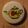 Retro Teapot 7 Button Badge