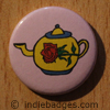 Retro Teapot 8 Button Badge