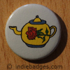 Retro Teapot 9 Button Badge