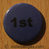 Blue 1st Button Badge
