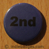 Blue 2nd Button Badge
