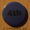 Blue 4th Button Badge