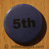 Blue 5th Button Badge