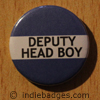 Blue Deputy Head Boy Button Badge