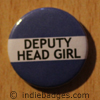 Blue Deputy Head Girl Button Badge