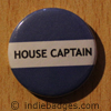 Blue House Captain Button Badge