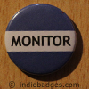 Blue Monitor Button Badge