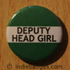Green Deputy Head Girl Button Badge