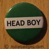 Green Head Boy Button Badge