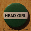 Green Head Girl Button Badge