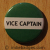 Green Vice Captain Button Badge
