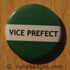 Green Vice Prefect Button Badge