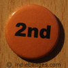 Orange 2nd Button Badge