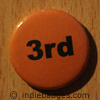 Orange 3rd Button Badge
