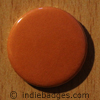Orange Coloured Button Badge