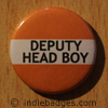 Orange Deputy Head Boy Button Badge