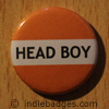 Orange Head Boy Button Badge