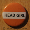 Orange Head Girl Button Badge