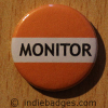 Orange Monitor Button Badge