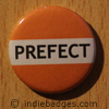 Orange Prefect Button Badge