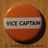 Orange Vice Captain Button Badge