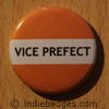 Orange Vice Prefect Button Badge