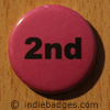 Pink 2nd Button Badge