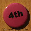 Pink 4th Button Badge