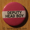 Pink Deputy Head Boy Button Badge