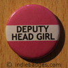 Pink Deputy Head Girl Button Badge